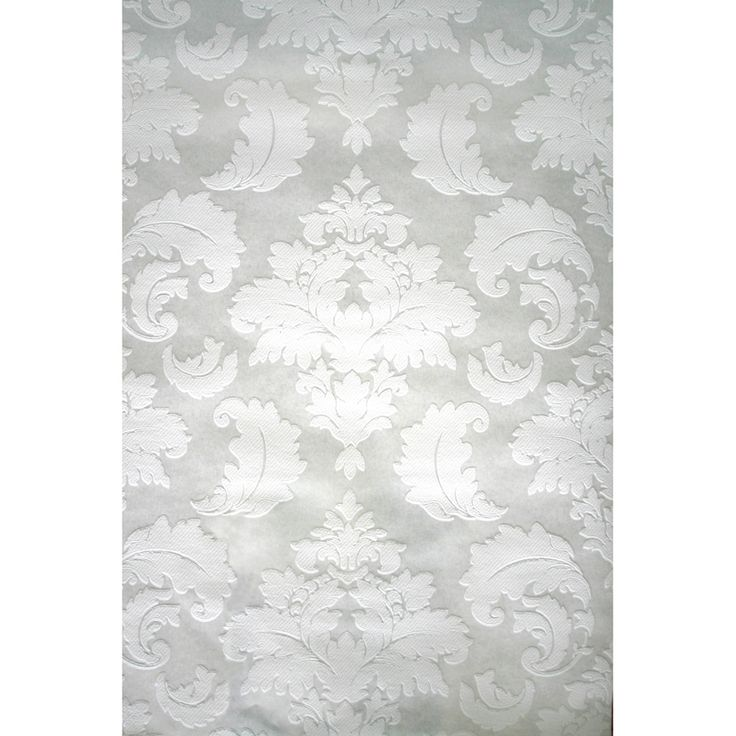Style Selections White Strippable Prepasted Paintable