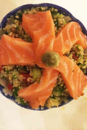 Quinoa salmon bowl