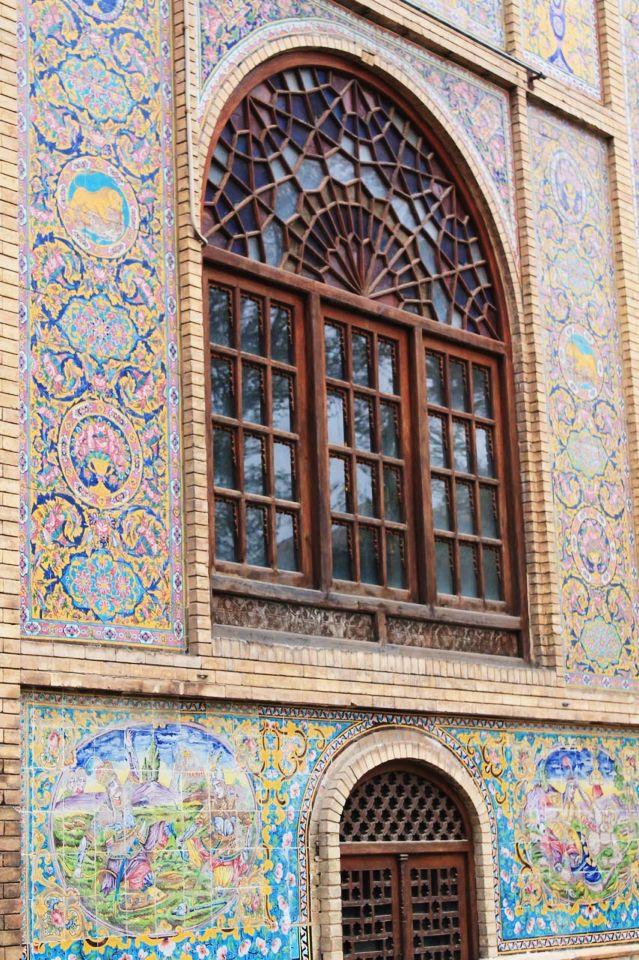 iran/tehran/golestan/palace/old/door/colorful