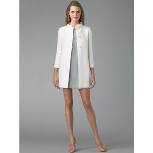 I would NEVER wear a dress this short...but I do love the coat!!: Shorts But