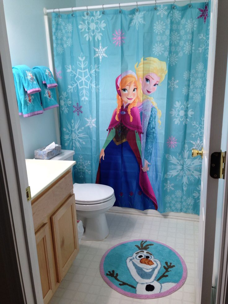 Frozen bathroom decor from Target