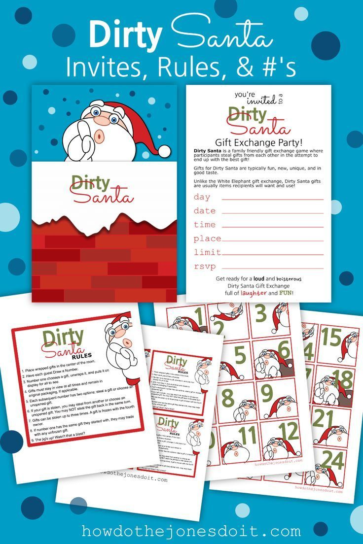 Dirty Santa Invitations, Rules, And Numbers | Christmas Cheer ...