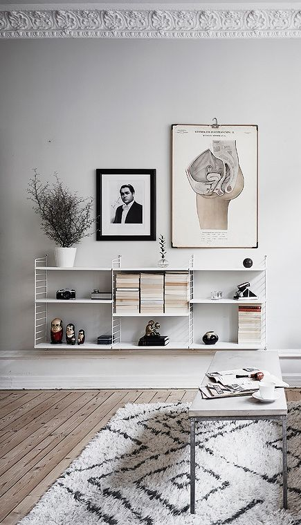 Living room inspiration | String Pocket shelf