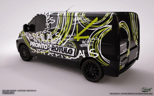 "Wrap Car Design 3 ""Pronto Rotulo"" on Behance"