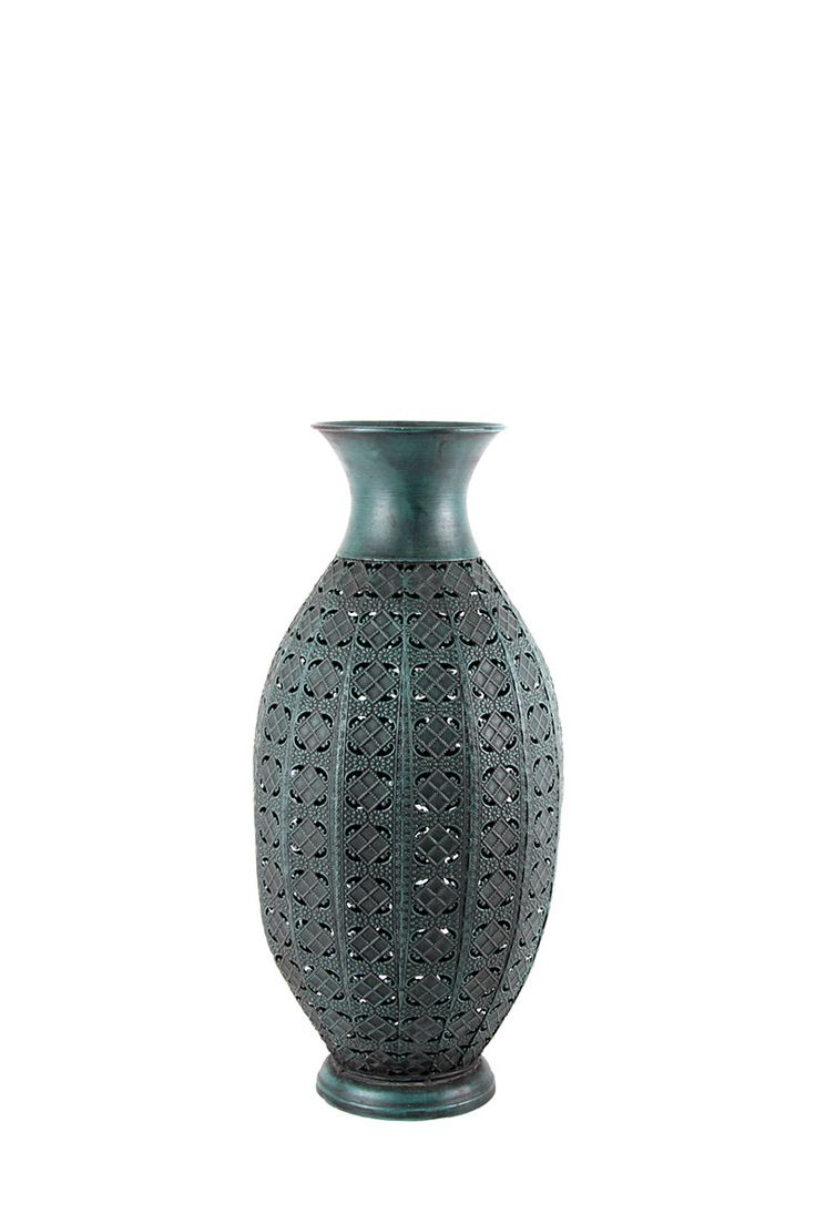 Tall Punched Metal Vase| Mrphome Online Shopping