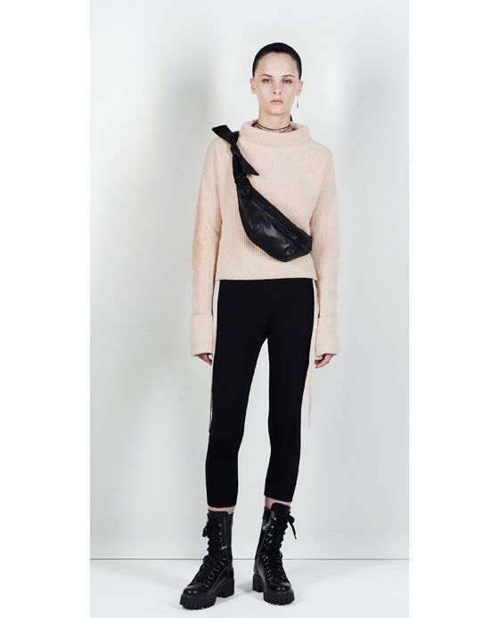 Image 1 of CASHMERE SWEATER WITH TIED DETAIL from Zara