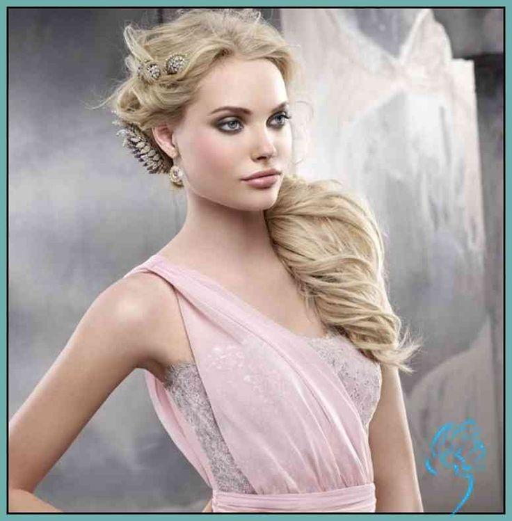 Frisur für Kleid mit einem Träger – 25 Ideen und Beispiele … | Damen Frisu…