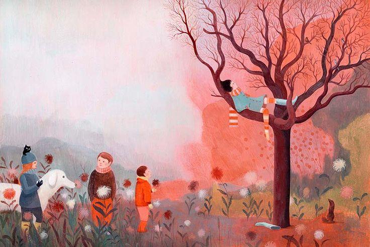 """Claire de Gastold illustration for """"La souris de Paris""""."""