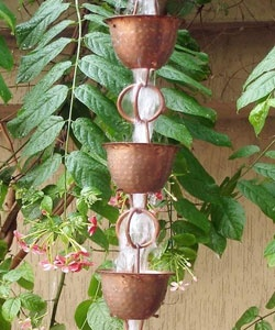 @Overstock - This unique and functional rainchain is a great way to add character to any home  Serves as an alternative to spouts as well as an outdoor decoration that adds a calm and soothing ambiance to any yardhttp://www.overstock.com/Home-Garden/Hammered-Cup-with-Ring-Rainchain/2184080/product.html?CID=214117 CAD              104.95