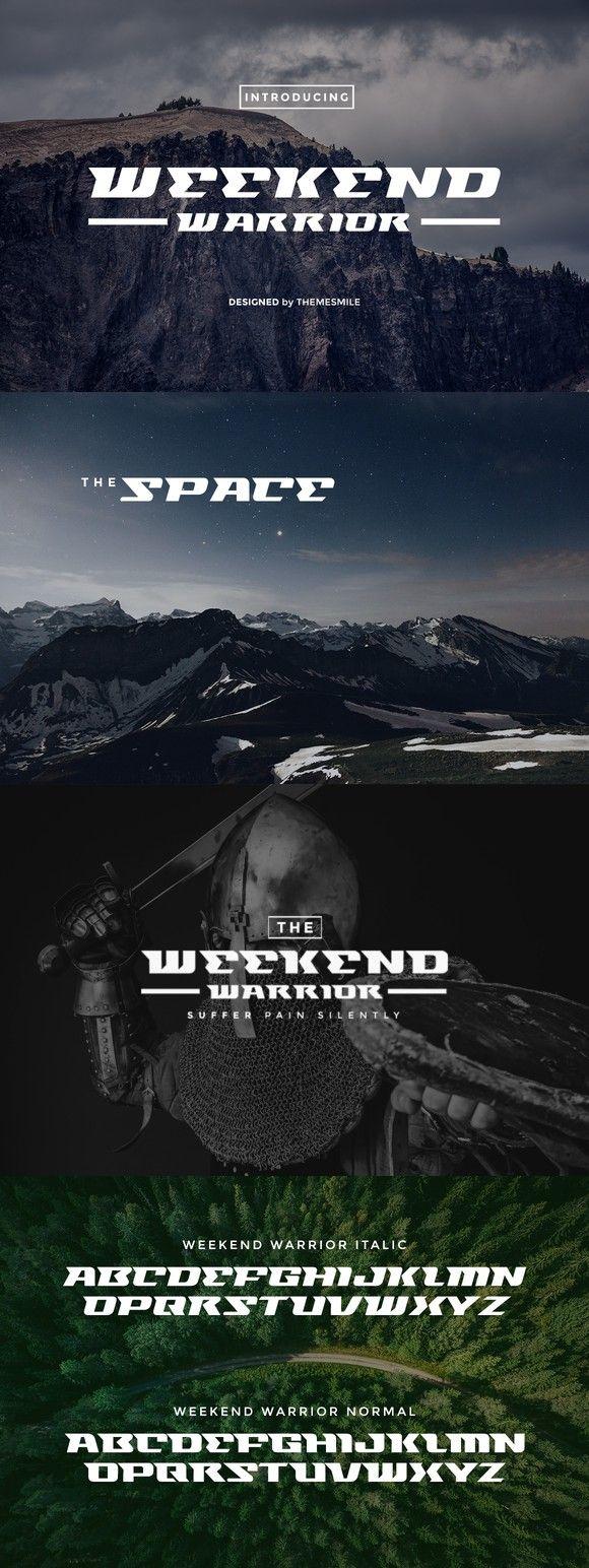 Weekend Warrior Sans Serif Font. Sans Serif Fonts. $12.00