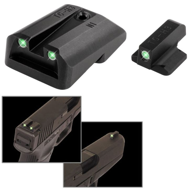 Pistol 73944: Truglo Tritium Night Sight Set White Green Front And Rear Sandw Mandp Shield - Tg231mp -> BUY IT NOW ONLY: $48.99 on eBay!