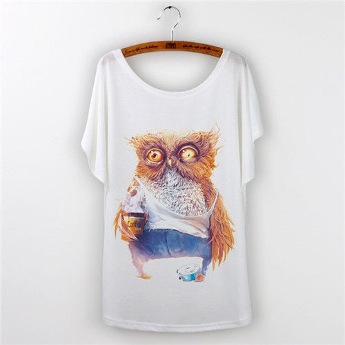 Hot !! Totoro Fashion 2016 Summer T-shirts for Women Tops Female Tees Shirt Casual Animal Print Batwing Sleeve Woman Clothes