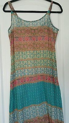 Urban Outfitters Staring at Stars light Floral Maxi boho hippie Dress Large