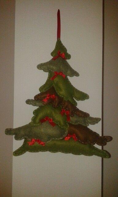 Albero di Natale in pannolencio