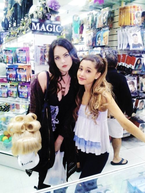 Ariana Grande and Elizabeth Gillies~hate to sound typical, but my obvious favorite on victorious.