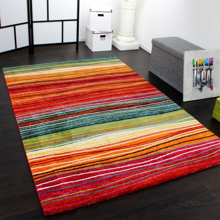 Teppich Modern Splash Designer Bunt Streifen Model Neu OVP Wohn Und Schlafbereich Teppiche