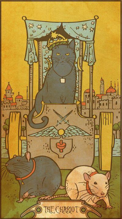 Muroidea Rat Tarot- The Chariot