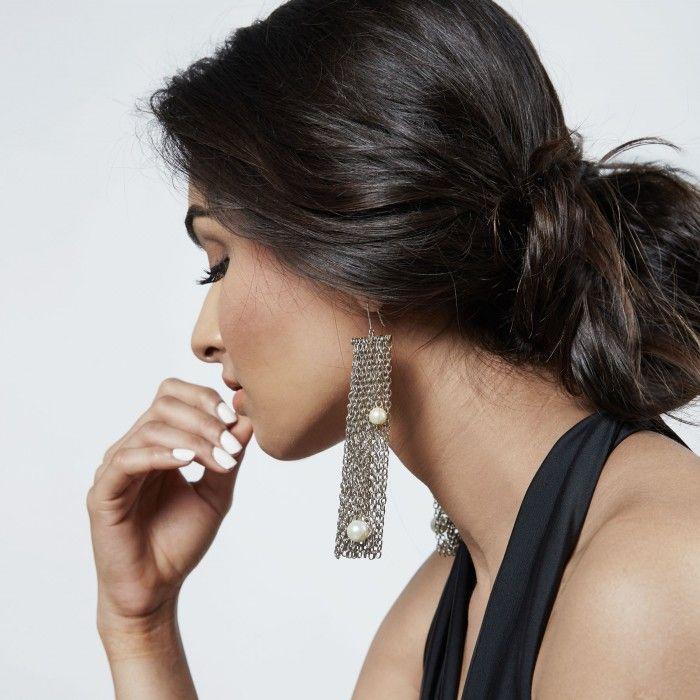 Rain Fringe Earrings by Suhani Pittie