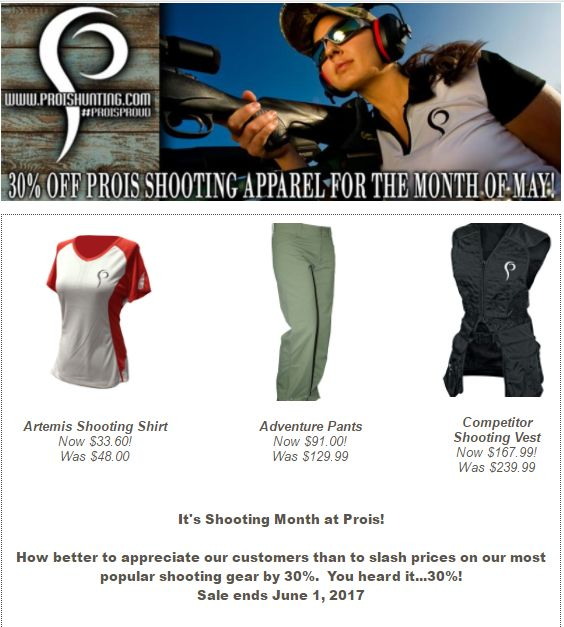 Did someone say SALE??!! Prois Shooting Gear on SALE this month! Go ahead and check out our great deals! https://www.proishunting.com/…/hunting-pre…/shooting-sports/