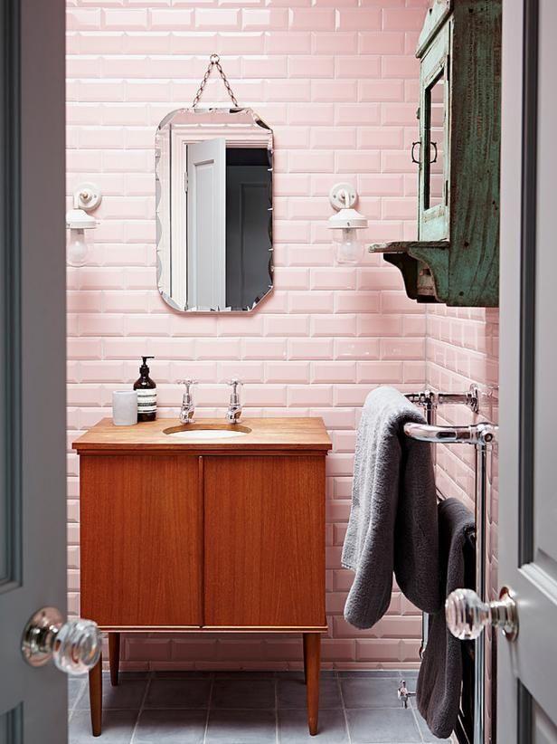 51 best Pink Bathrooms images on Pinterest 1950s bathroom Retro