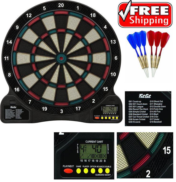 "Soft Tip Dartboard Electronic Dart Board Game 13"" Target Face Sport Home Office #FatCat"