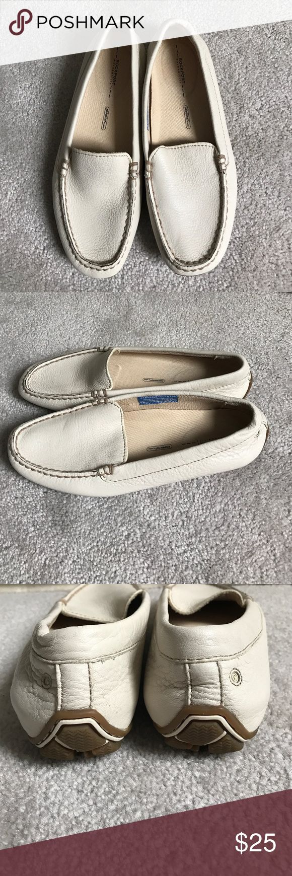Rockport walkability loafer moccasins cream 6 New Rockport Shoes Flats & Loafers