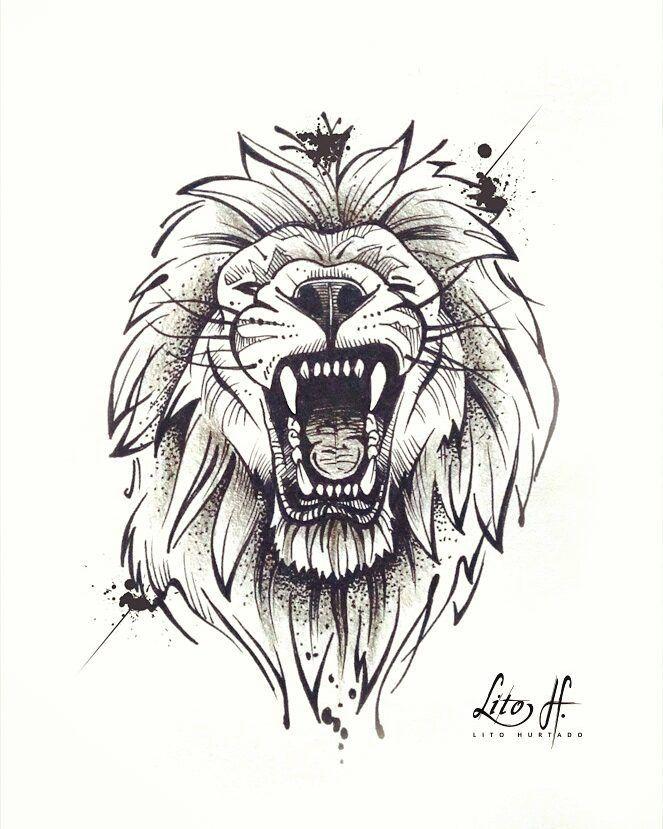 A Imagem Pode Conter Desenho Tattoo Sketches Lion Tattoo Lion