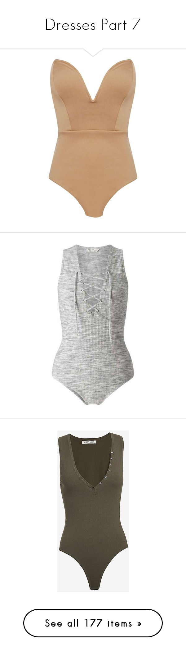 """""""Dresses Part 7"""" by belabmilagres ❤ liked on Polyvore featuring intimates, shapewear, bodysuit, tops, bodies, suits, underwear, bodysuits, shirts and leotards"""