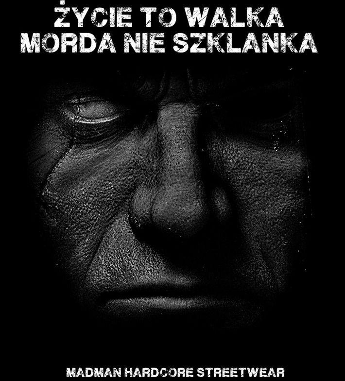 Motyw fighterski na koszulce 'Życie to Walka' ---> Streetwear shop: odzież uliczna, kibicowska i patriotyczna / Przepnij Pina!