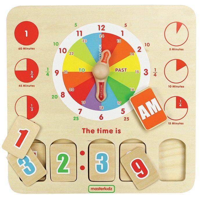 Time Teaching Board, $39.60 plus postage from edex.com.au