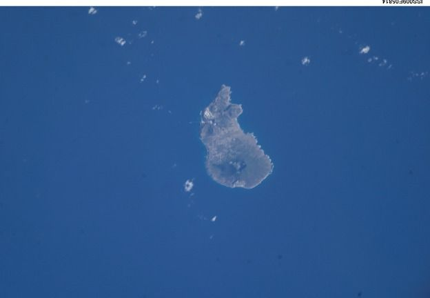 Sint Eustatius photographed from the ISS