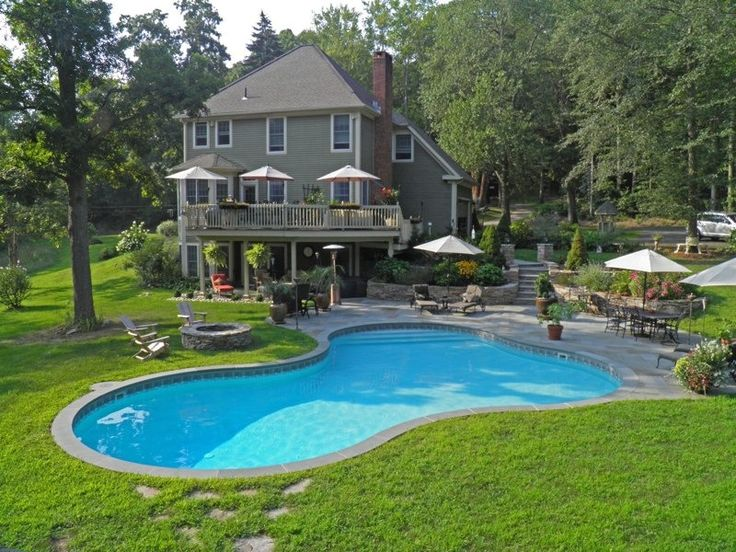 View our Lagoon Inground Pool Gallery. Juliano's Pools can help you with your pool project, we serve Western Massachusetts, Connecticut, and Rhode Island