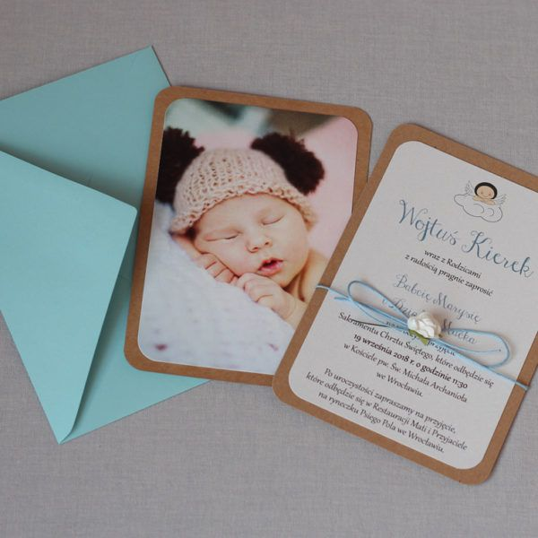 Zaproszenia Na Chrzest Ze Zdjeciem Dziecka Baby Cards Handmade Christening Invitations Cards Handmade