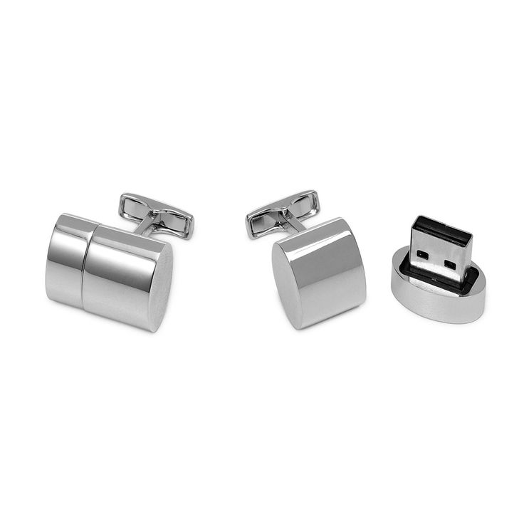 WiFi & USB Cufflinks-- Keep an on-the-go connection to the net and to your hard drive on hand with this pair of sleek, tech-savvy cufflinks.