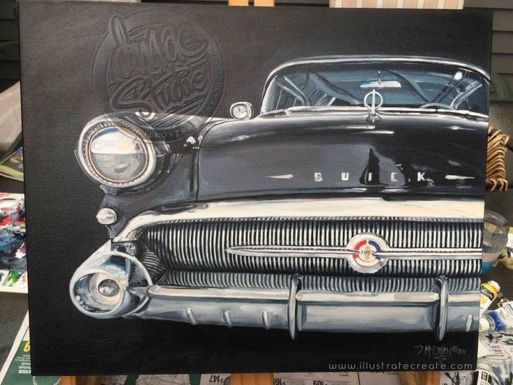 57-Buick-Oil-painting