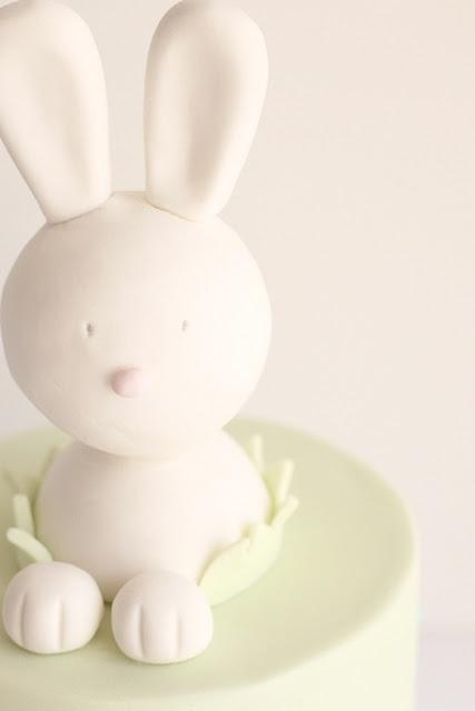 Rabbit cake topper