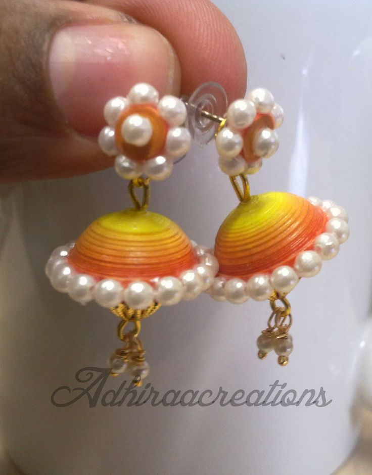 Adhiraacreations: Some more paper jhumkas