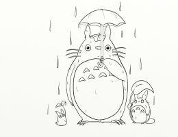 Totoro Line Art Tattoo by ArtMagique