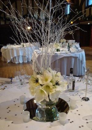 White Wedding Flowers Arrangements Winter White Wedding designed by The Fine Flower Company at My Wedding Flower Ideas Magazine