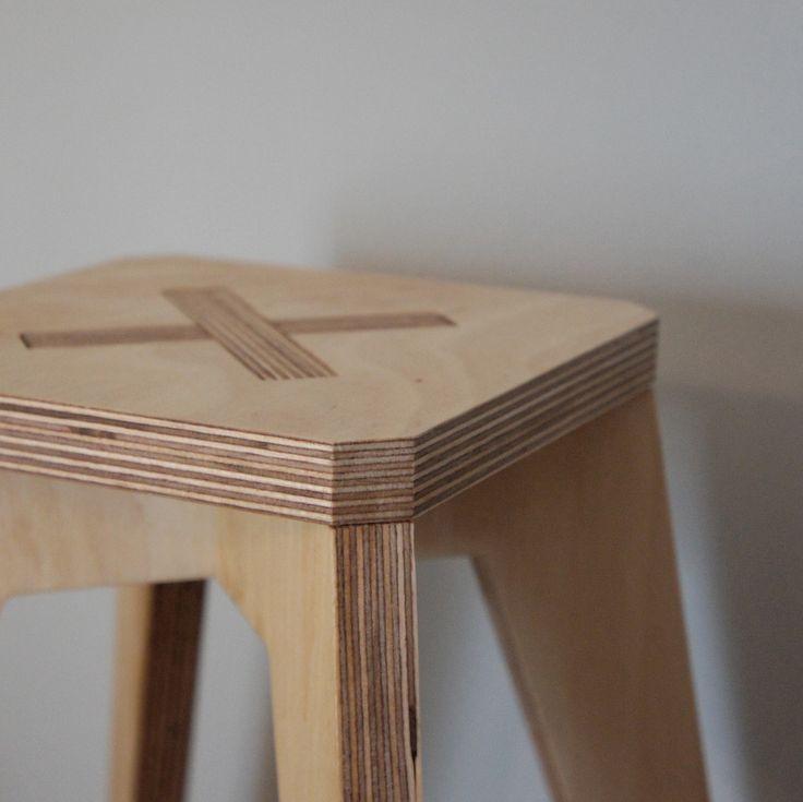 baby stool - detail - birch plywood furniture - bespoke - handmade - nomadic design studio