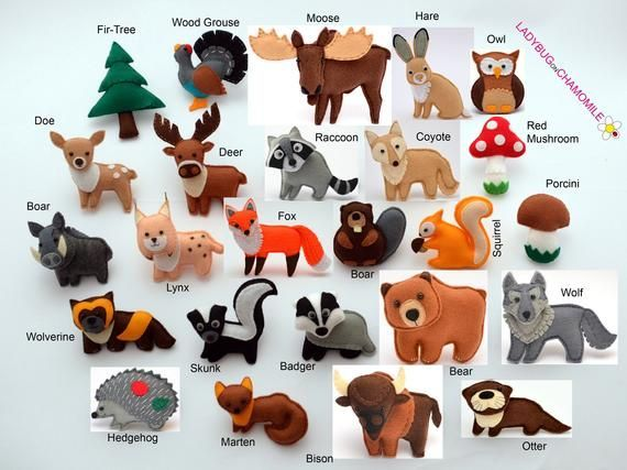 Wald Tiere Tiere Filzmagnete Filz Tiere Preis Pro 1 Stuck Magnete Ornamente Spielzeug Waldtiere Ornamente Filz Spielzeuge Filz Magnet Handgemachter Filz