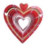 Windspinner in de vorm van een hart. De windspinners van De Vrolijke Engel geven een prachtig lichteffect als ze draaien.