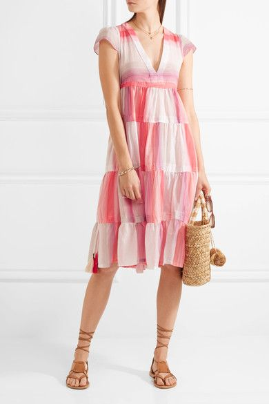 LemLem - Banu Striped Cotton-gauze Dress - Antique rose - x small