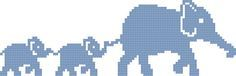animaux - animals - éléphant - point de croix - cross stitch - Blog : http://broderiemimie44.canalblog.com/