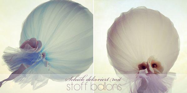 Schick dekoriert mit Stoff umhüllten Ballons
