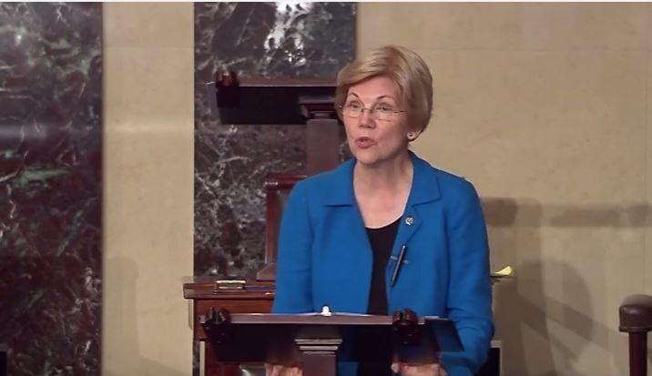 Elizabeth Warren Takes A Flamethrower To The Senate During Democratic Filibuster