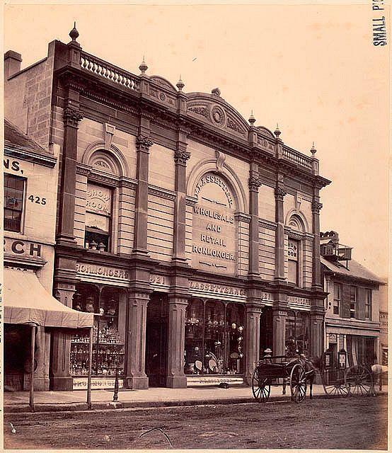 1870 - Lassetter & Co., wholesale and retail ironmonger, 421 George Street, Sydney