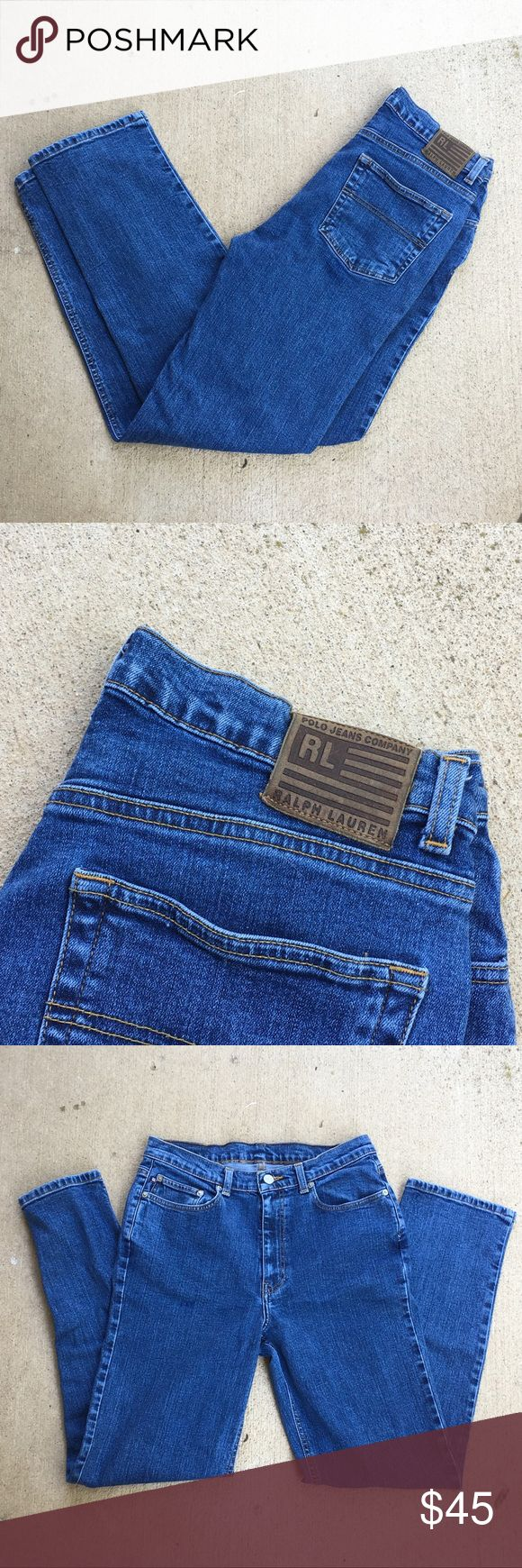 VINTAGE Ralph Lauren Denim Jeans Preowned• no stains or rips• Vintage• medium wash•denim/jean material• High-Waisted• Measurements: Waist- 14 inches, Inseam: 29.5 inches, Outseam- 39 inches, Leg opening- 7.5 inches, Front Rise- 8.5 inches, Back Rise- 13.5 inches, Hips- 18 inches•No try ons Polo by Ralph Lauren Jeans Straight Leg