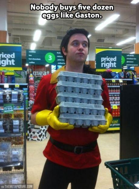 I suppose he has to get them somewhere...