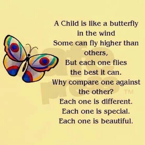 A Child Is Like A Butterfly....each child is an original individual